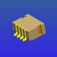 1.0mm間距T4內嵌焊片型WTB