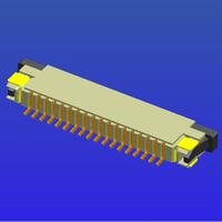 1.0mm間距帶鎖臥貼上接抽屜式FPC